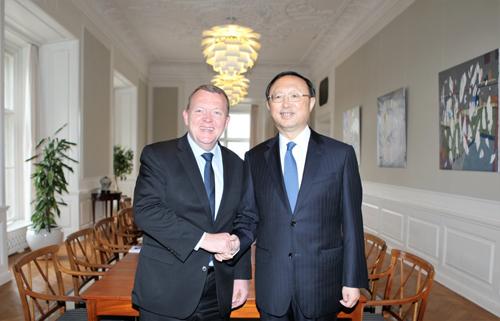 Prime Minister Lokke Rasmussen of Denmark Meets with Yang Jiechi