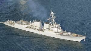 Navy destroyer sails near disputed island claimed by China