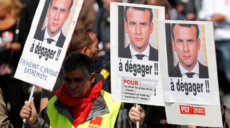 Protests across France against Macron's labour reforms