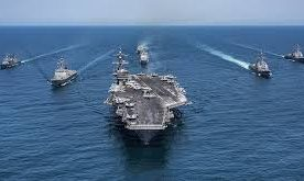 US aircraft carrier Vinson, Japanese Navy drill in South China Sea
