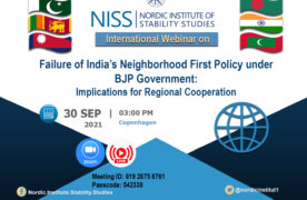 """An International Webinar on: """"Failure of India's neighborhood first policy under BJP government: implications for regional cooperation"""""""